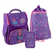 Набор рюкзак + пенал = сумка для обуви в ПОДАРОК Kite 501 Flowery