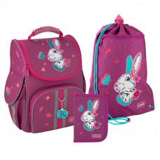 Набор рюкзак + пенал = сумка для обуви в ПОДАРОК Kite 501 Bunny